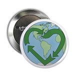 Recycle Earth (Heart) Button