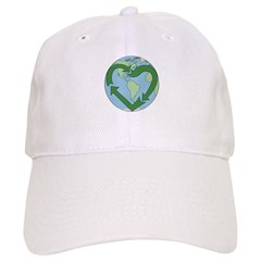 Recycle Earth (Heart) Baseball Cap