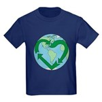 Recycle Earth (Heart) Kids Dark T-Shirt