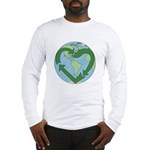 Recycle Earth (Heart) Long Sleeve T-Shirt