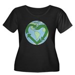 Recycle Earth (Heart) Women's Plus Size Scoop Neck