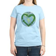 Recycle Earth (Heart) Women's Light T-Shirt