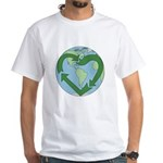 Recycle Earth (Heart) White T-Shirt