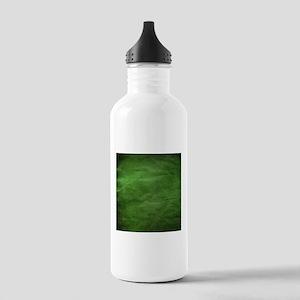Green wrinkle paper texture Water Bottle