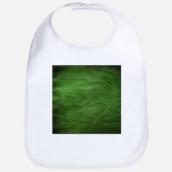 Green wrinkle paper texture Bib