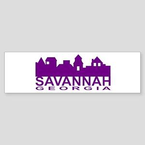 Savannah Skyline Bumper Sticker