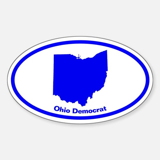 Ohio BLUE STATE Oval Decal