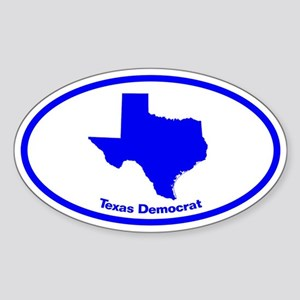 Texas BLUE STATE Oval Sticker