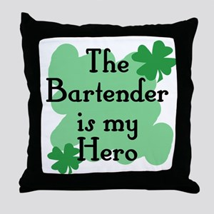 the bartender is my hero Throw Pillow