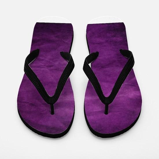 Purple wrinkle paper texture Flip Flops