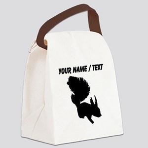 Custom Squirrel Silhouette Canvas Lunch Bag