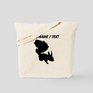 Custom Squirrel Silhouette Tote Bag