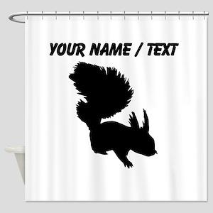 Custom Squirrel Silhouette Shower Curtain