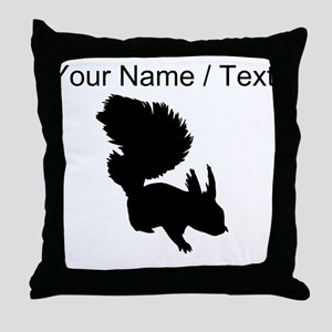 Custom Squirrel Silhouette Throw Pillow