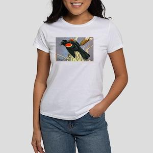 Red-Winged Blackbird Bird (Front) Women's T-Shirt