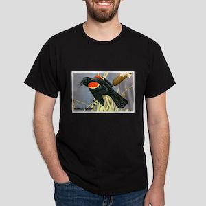 Red-Winged Blackbird Bird (Front) Dark T-Shirt