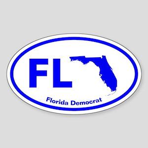 Florida BLUE STATE Oval Sticker
