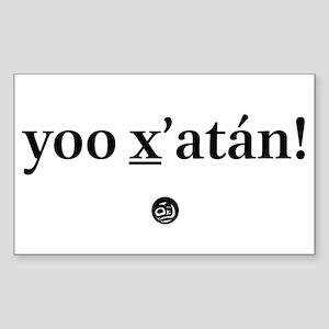 Yoo X_'Atn! Sticker (Rectangle)