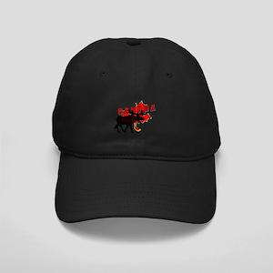 Canada Maple Leaf Moose Black Cap