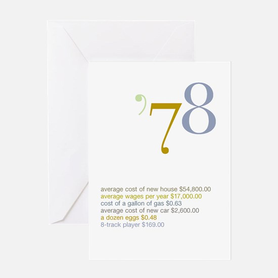 1978 Fun Facts Birthday Greeting Card