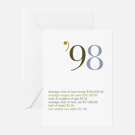 1998 Fun Facts Birthday Greeting Card