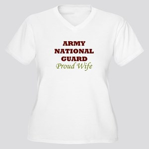 National Guard Proud Wife Women's Plus Size V-Neck