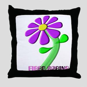 FIBRO SPRING Throw Pillow