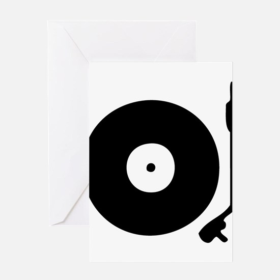 Vinyl Turntable 1 Greeting Cards