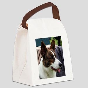 cardigan welsh corgi brindle Canvas Lunch Bag