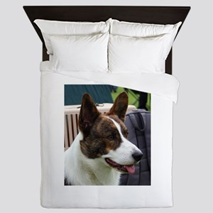 cardigan welsh corgi brindle Queen Duvet