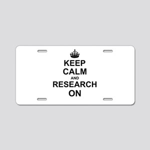Keep Calm and Research on Aluminum License Plate