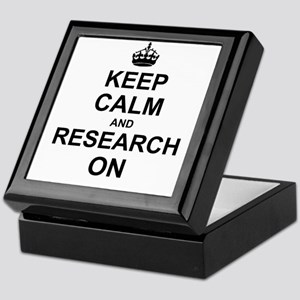 Keep Calm and Research on Keepsake Box