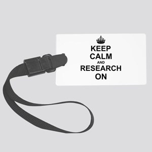 Keep Calm and Research on Large Luggage Tag