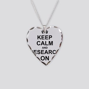 Keep Calm and Research on Necklace Heart Charm