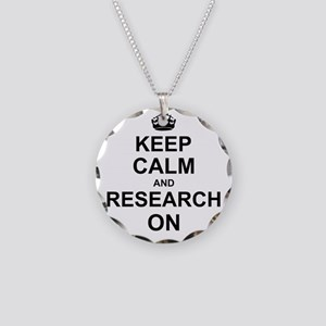 Keep Calm and Research on Necklace Circle Charm