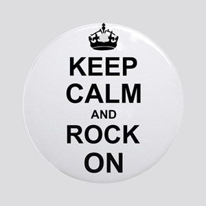 Keep Calm and Rock on Ornament (Round)