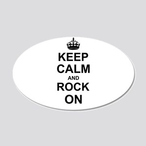 Keep Calm and Rock on Wall Sticker