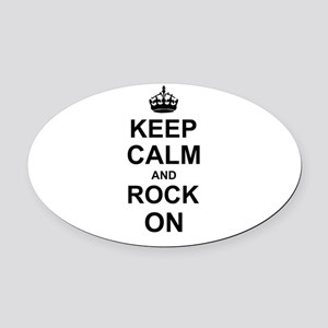 Keep Calm and Rock on Oval Car Magnet