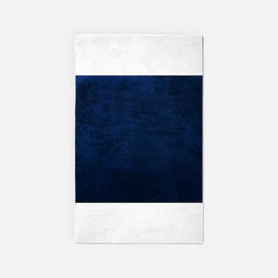 Blue fabric texture 3'x5' Area Rug