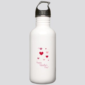 Happy Valentines Day Hearts Water Bottle