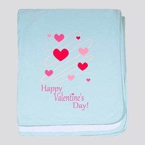 Happy Valentines Day Hearts baby blanket