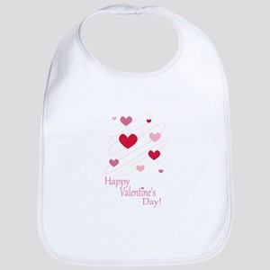 Happy Valentines Day Hearts Bib