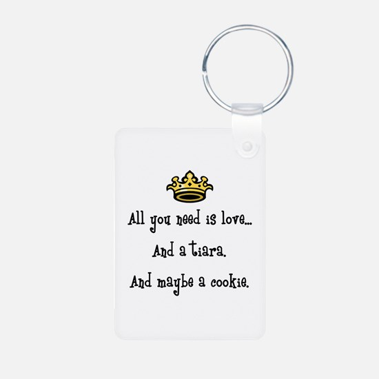 Love And A Cookie Aluminum Keychains