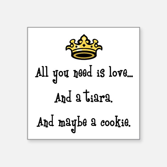 """Love and a Cookie Square Sticker 3"""" x 3"""""""