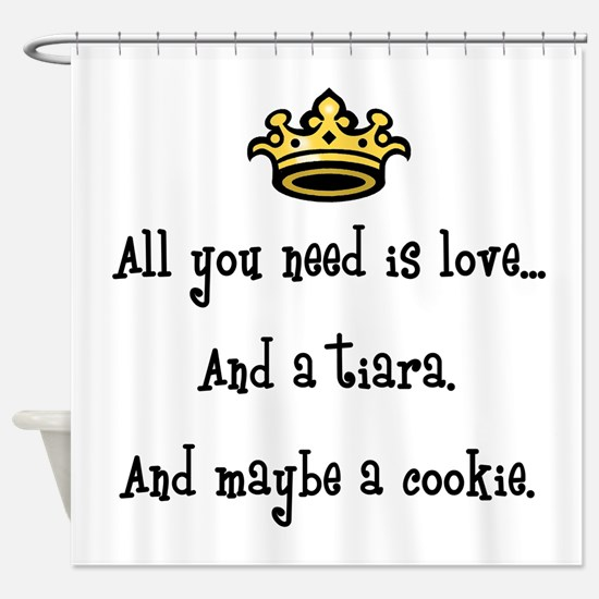 Love and a Cookie Shower Curtain