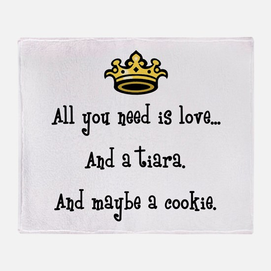 Love and a Cookie Throw Blanket