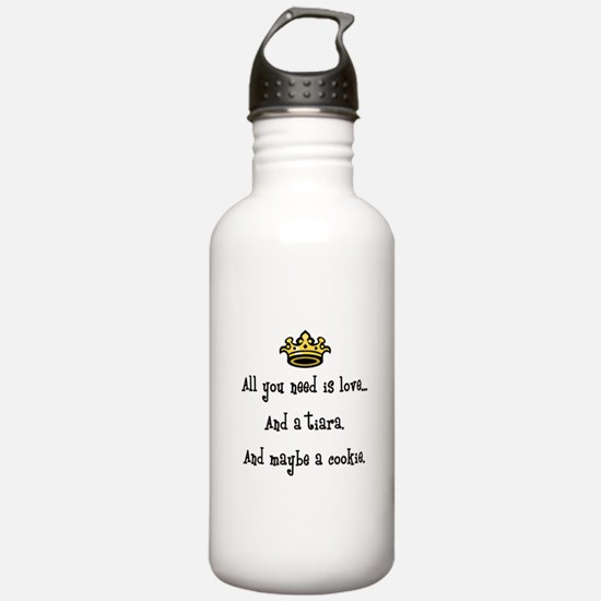 Love and a Cookie Sports Water Bottle