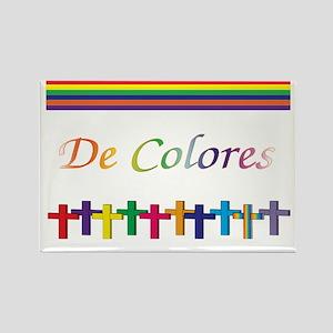 De Colores Rainbow Crosses Rectangle Magnet