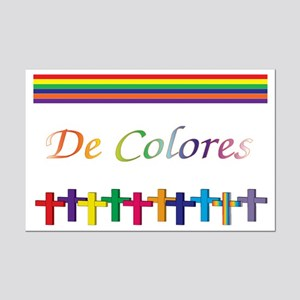 De Colores Rainbow Crosses Mini Poster Print