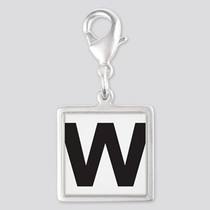 Letter W Black Charms